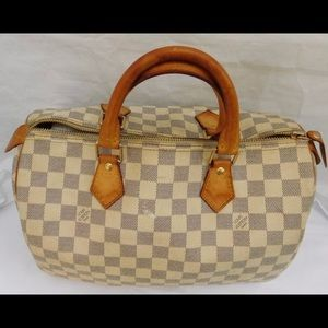 AUTHENTIC LOUIS VUITTON DAMIER AZUR SPEEDY 30 BAG